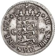 2 Skilling Dansk - Fredrik IV – revers