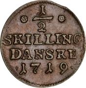 ½ skilling - Frederik IV – revers
