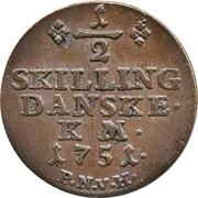 ½ Skilling - Frederik V – revers