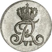 1 Skilling Frederik VI – avers