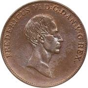 1 Speciedaler - Frederik VI (essai) – avers