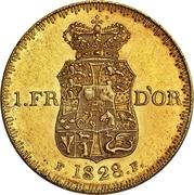 1 Frederik d'Or  - Frederik VI – revers