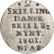 2 Skilling - Christian VII – revers