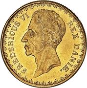 1 Frederiks d'Or  - Frederik VI – avers