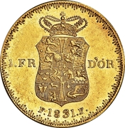 1 Frederiks d'Or  - Frederik VI – revers