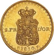 2 Frederiks d'Or  - Frederik VI – revers