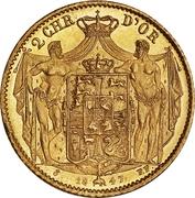 2 Christians d'Or  - Christian VIII – revers