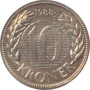 10 kroner - Margrethe II (1ere effigie) -  revers