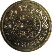 20 kroner - Margrethe II (2e effigie, 1ère armoirie) -  revers