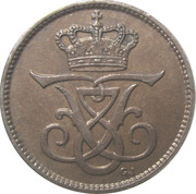 1 øre - Frédéric VIII – avers