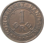 1 øre - Frédéric VIII -  revers