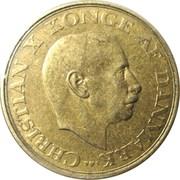 1 krone - Christian X -  avers