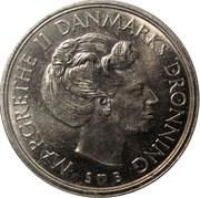 1 krone - Margrethe II (type sans trou) -  avers