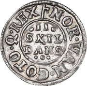 2 Skilling Dansk - Fredrik III – revers