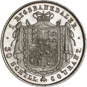 1 Rigsbankdaler - Frederik VII – revers