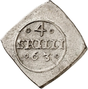 4 Skilling - Frederik II (Seven-Years War coinage) – revers