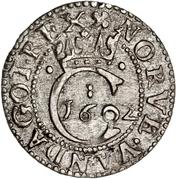 1 hvid - Christian IV – revers