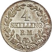 4 skilling Rigsmont - Frederik VII – revers
