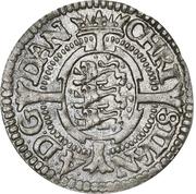 1 Skilling Dansk - Christian IV (Oval shield; date in legend) – avers