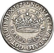 2 Krone - Christian IV – revers