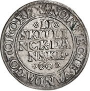2 Skilling - Frederik II (Copenhagen mint; type 1) – revers