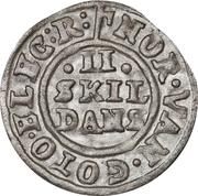 2 Skilling Dansk - Frederik III (Rex Electus) – revers