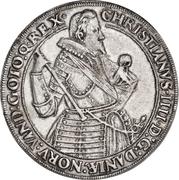 """2 speciedaler """"Breddaler"""" - Christian IV – avers"""