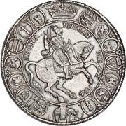 """2 speciedaler """"Breddaler"""" - Christian IV – revers"""