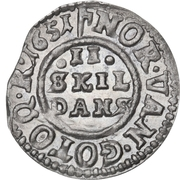 2 Skilling Dansk - Frederik III (Shield type IIa) – revers