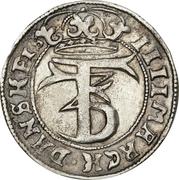 4 Mark Dansk - Frederik III (Type I) – avers