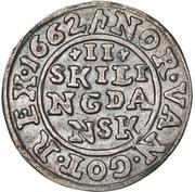 2 skilling - Frederick III – revers