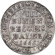 ⅛ Reichs Daler - Frederik III – revers