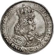 1 Speciedaler - Frederik III – avers