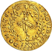 1 Dukat - Frederik III – revers