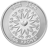500 kroner (Anniversaire de la reine Margrethe II) – revers