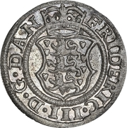 2 Skilling Dansk - Frederick III (Shield type VII) – avers