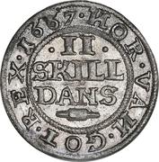 2 Skilling Dansk - Frederick III (Shield type VII) – revers