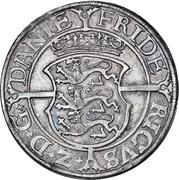 3 Mark Dansk - Frederik II (Copenhagen mint) – avers
