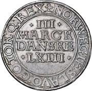 3 Mark Dansk - Frederik II (Copenhagen mint) – revers