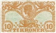 10 Kroner (Heilmann type I) – revers