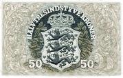 50 Kroner (Heilmann type 2) – revers