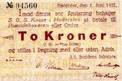 2 Kroner (Haderslev) – revers