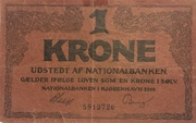 1 Krone (Skillemønt type II) – avers