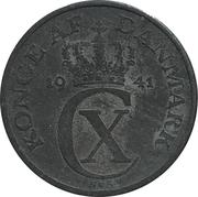 1 øre - Christian X – avers