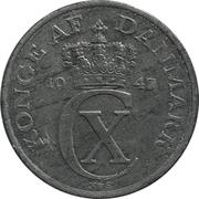 2 øre - Christian X -  avers