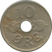 10 øre - Christian X -  revers