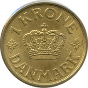 1 krone - Christian X -  revers