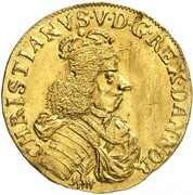 1 Ducat - Christian V – avers