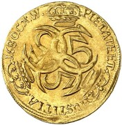 1 Ducat - Christian V – revers