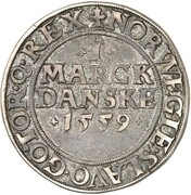 1 Skilling Dansk - Frederik II (Copenhagen mint) – revers